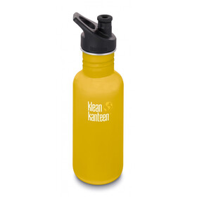 Klean Kanteen Classic Drinkfles Sport Cap 532ml, lemon curry matt